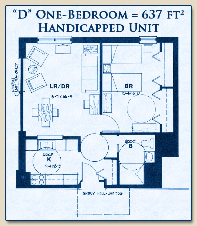 unit d handicapped 1 bedroom calvary center cooperative On handicap floor plans